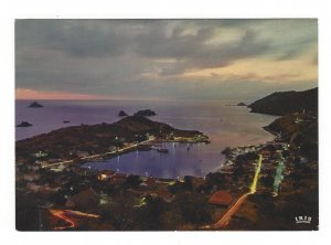 Saint Barthelemy St. Barth Barts Gustavia Aerial Night View Iris 4X6 Postcard