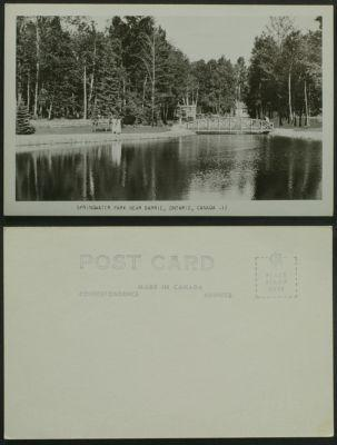 Springwater Park near Barrie Ontario RPPC c 1950