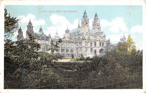 Scotland, UK Old Vintage Antique Post Card Art Gallery Glasgow 1910