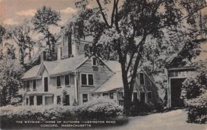The Wayside, Home of Authors, Lexington, Massachusetts, early postcard, Unused