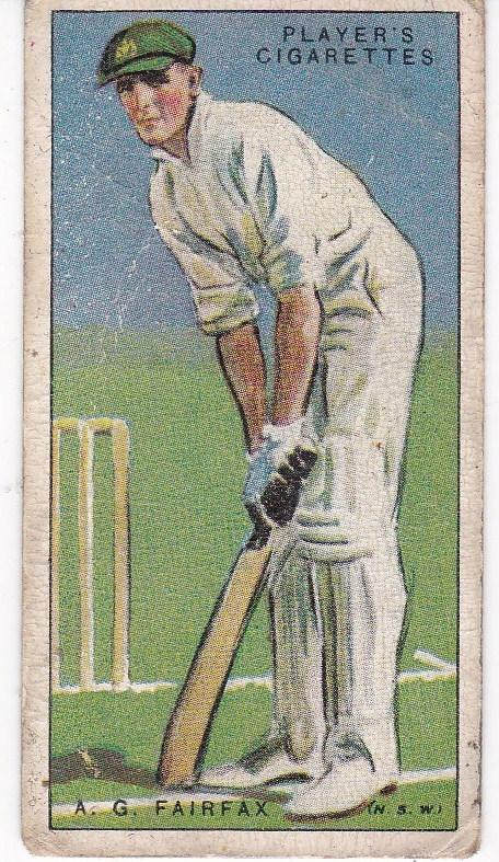Cigarette Cards Player's Cricketers 1930 No 12 - A G Fairfax