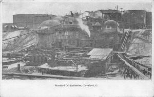 Cleveland Ohio~Standard Oil Refineries~Down in the Pits~1905 B&W Postcard