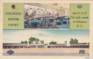 North Carolina Edenton Colonial Motor Court 1953 Albertype