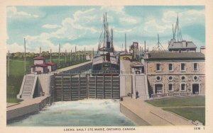 ONTARIO, Canada, 1900-1910's; Locks Sault Ste. Marie