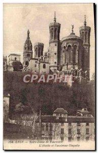 Old Postcard Lyon Notre Dame de Fourviere L & # & # 39abside and 39ancienne c...
