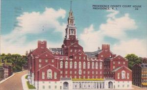 Rhode Island Providence County Court House 1950