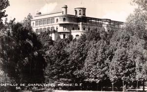 MEXICO CITY MEXICO~CASTILLO de CHAPULTEPEC~ REAL PHOTO POSTCARD 1940