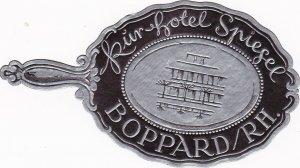 Germany Boppard Kurhotel Spiegel Vintage Luggage Label sk1175