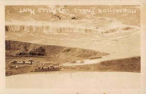Great Falls Montana Horseshoe Falls Real Photo Antique Postcard K98497