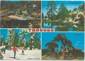 TROODOS, Cyprus, Multi view, 1995 used Postcard