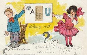 R.F. OUTCAULT ; Valentine , Buster Brown kids & Dog , 1906 ; TUCK