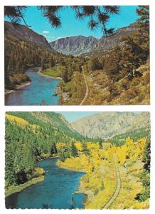 CO Rio Grande River Between South Fork & Creede 2 Postcards