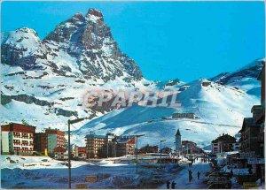 Postcard Modern Cervinia Vallee d'Aosta General view