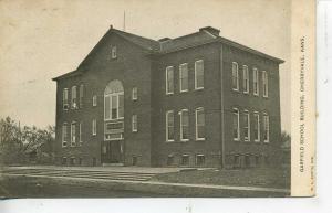 CHERRYVALE KANSAS GARFIELD SCHOOL BUILDING VINTAGE POSTCARD