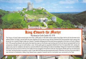 Dorset Postcard King Edward the Martyr, Corfe Castle by J. Salmon Ltd I65