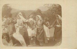 Ethnic life Postcard gipsies gypsy types real photo postcard