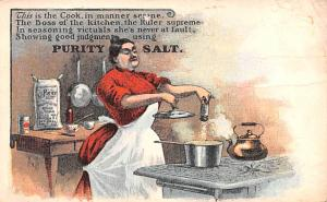 Advertising Post Card Purity Salt Table Salt Private Mailing Card (1898 - 190...