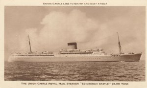 Union Castle Ocean Liner EDINBURGH CASTLE , 30-40s