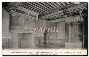 Old Postcard Azay Le Rideau Chateau National Chamber Of The King