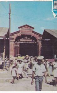 Street scene at Iron Market , Port-au-Prince , Haiti , PU-1969