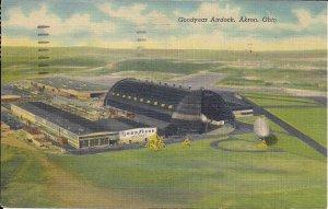 ZEPPELIN, AIRSHIP, BLIMP, Akron, OH, Goodyear Blimp Airdock, 1958, Teich Linenn