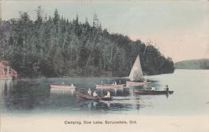 SPRUCEDALE , Ontario , 1909 ; Camping. Doe Lake
