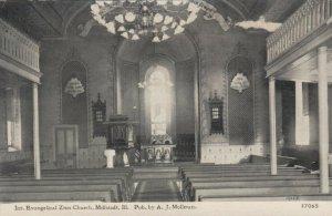 MILLSTADT, Illinois, 1900-10s; Int. Evangelical Zion Church