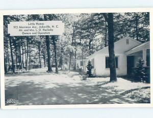 1940's LITTLE HOMES CABINS MOTEL Asheville North Carolina NC c4153