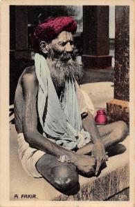 India Worshiper Religious Old Man, A Fakir