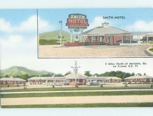 Unused Pre-1980 MOTEL SCENE Marietta Georgia GA HJ9402