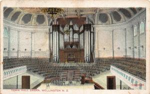 New Zealand Town Hall Organ Wellington Interior Postcard