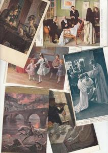 Lot 6 early art pictorial cards not postcards front/back scans hard cardboard