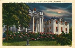 Ridgecrest, NC, Pritchell Hall, Baptist Assembly, Linen Vintage Postcard c6815