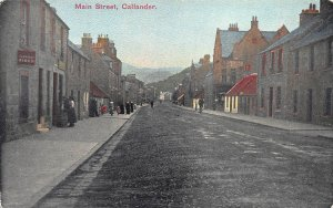 Main Street, Callandar, Scotland, Early Postcard, Unused