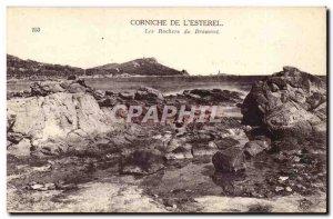 Postcard Old Corniche of & # 39Esterel The rocks Dramont