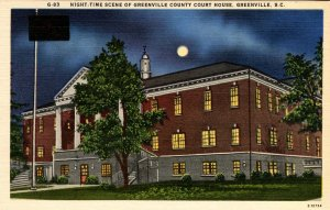 SC - Greenville. Greenville County Courthouse at Night