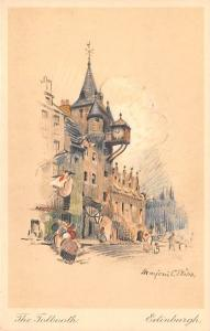 Scotland, UK Old Vintage Antique Post Card The Tolbooth Edinburgh Unused