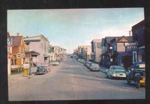 SMALL TOWN TEXAS DOWNTOWN STREET SCENE OLD CARS POSTCARD SOPY STORES