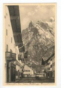 Street Scene & Mountain,Karvendel,Mittenwald,Germany 1900-10s