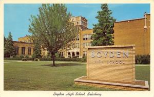 Boyden North Carolina~High School~Brick Sign~1962 Postcard