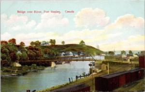 Bridge over River Port Stanley Ontario ON Ont Unused Postcard E30