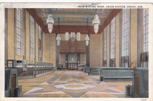 OMAHA, Nebraska, PU-1931; Main Waiting Room, Union Station