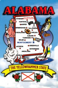 Alabama The Yellowhammer State With Map