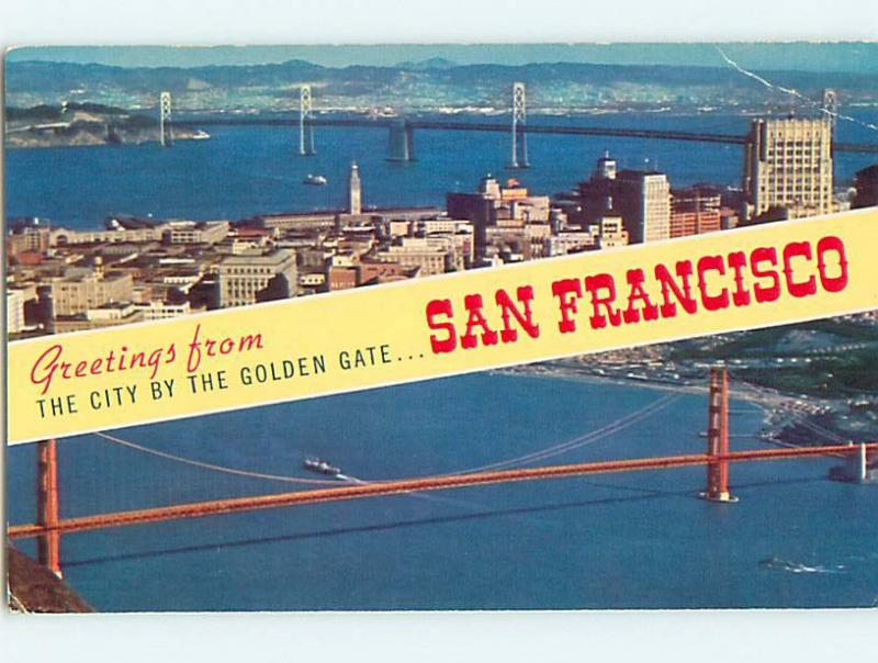 Unused 1950s greetings from two views on one postcard san unused 1950s greetings from two views on one postcard san francisco ca q8126 m4hsunfo