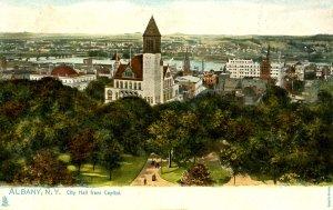 NY - Albany. City Hall from Capitol   (Tuck)