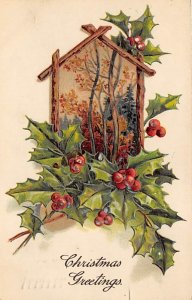 Christmas Postcard Antique Xmas Post Card PFB Publishing Postal used unknown