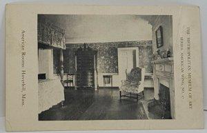 American Rooms Haverhill Mass Vintage Postcard Metropolitan Museum of Art