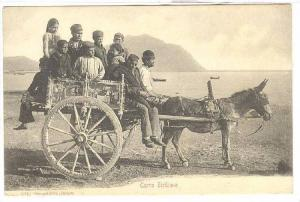 Carro Siciliano, Donkey-pulled carriage with passengers, 00-10s