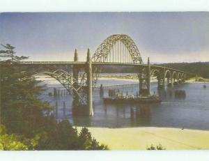 Unused Pre-1980 BRIDGE SCENE Newport Oregon OR HQ8587