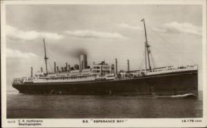 SS S.S. Esperance Bay Steamship c1920 Real Photo Postcard